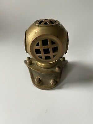 "Vintage Metal Divers Helmet 3"" Tall"