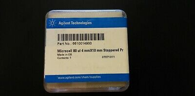 Agilent cell,PTFE lid, 4 mm wide, 10 mm path length, 80 µL, for Cary. 6610014900