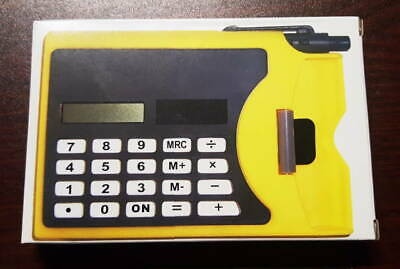 CALCOLATRICE CON PENNA energia solare calculator with pen solar power