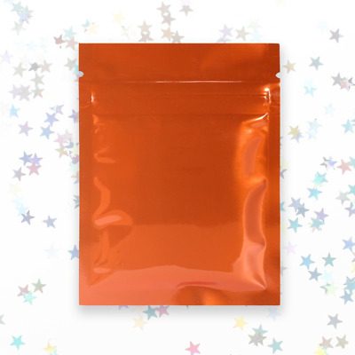 QQ Studio Orange Mylar Bags With Custom Printing and Ziplock and for Arts and Cr