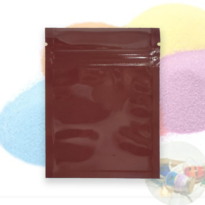 QQ Studio Brown Mylar Bags With Ziplock and Custom Printing for Arts and Crafts