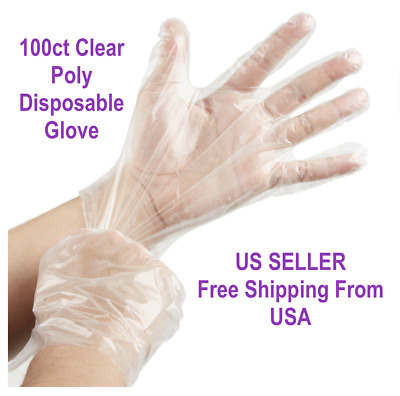 Choice 100 Count Disposable Food Service Poly Gloves SIZE S/M/L FREE SHIPPING US
