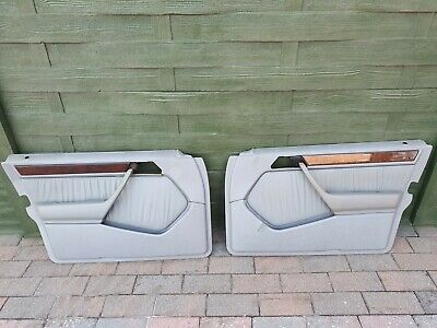 Mercedes Benz W124 Pass Right + LEFT Rear Door Panel Gray 1247209062