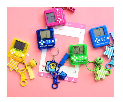 Vintage Classic Tetris Handheld Game Console Key Ring For Hand Bags & Back Packs