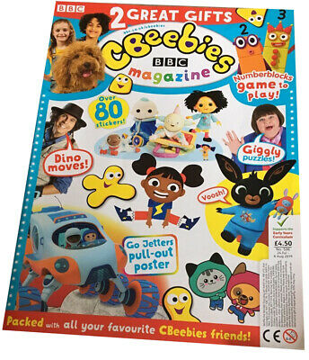 BBC CBeebies Magazine /& Packet Toys 2 Gift 80 Stikers Issue 536