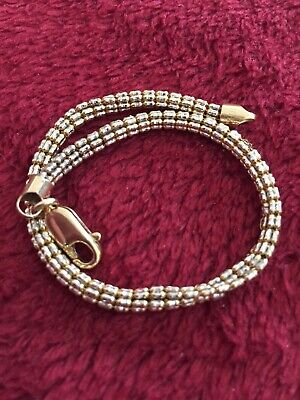 Yellow Gold Ice Bracelet 10 Kt Lobster Lock 7.4 Grams Scrap Or Wear 4 mm