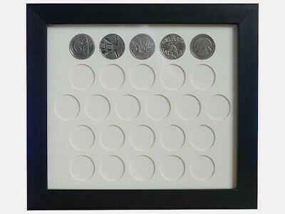 Display Case for UK Ten Pence 10p Coins - Wall Hanging Case for Alphabet Series