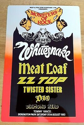 Whitesnake Zztop Dio Monsters Of Rock Castle Donington 1983 8X12 Inch Metal Sign