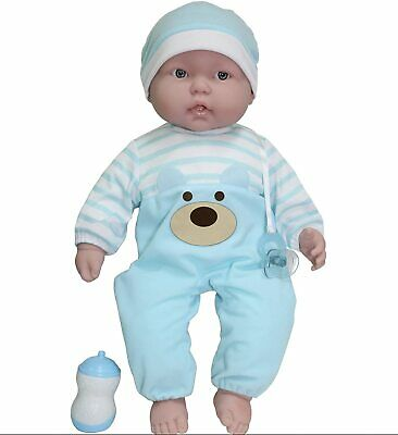 JC Toys Lots to Cuddle Babies' 20''  Blue Soft Babay Doll & Access Berenguer