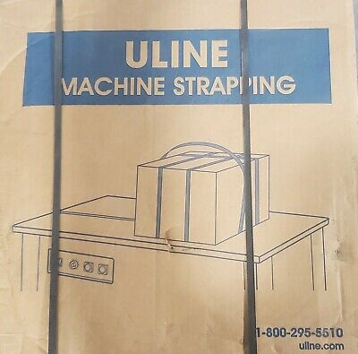 "Uline S-5692 Machine Strapping 1/2"" x .023"" x 9900' White"
