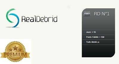 Real-Debrid.com 2 weeks / 15 days Premium - Fast worldwide processing 24H