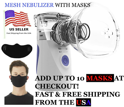 Mini Portable Ventilator Rechargeable MASKS Face Covers Respirator USA SHIP