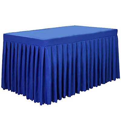 Tina 8' ft Polyester Fitted Tablecloth Table Skirt for Wedding Banquet Trade