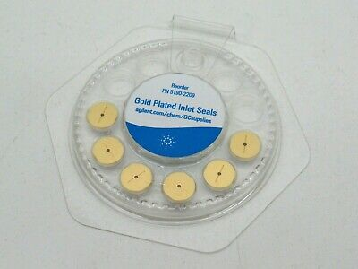 Lot of (6) Agilent 5190-2209 Gold Plated Inlet Seals w/ Washer