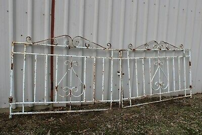 Vintage Retro Wrought Iron Front Gate Cast Driveway Garden Trellis Creeper Frame