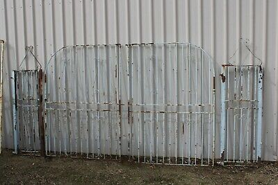 Vintage Retro Wrought Iron Front Gate Cast Driveway Column Post