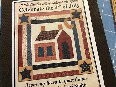 Lady Liberty Patriotic Flags 4th of July Quilting Fabric Block 5x7