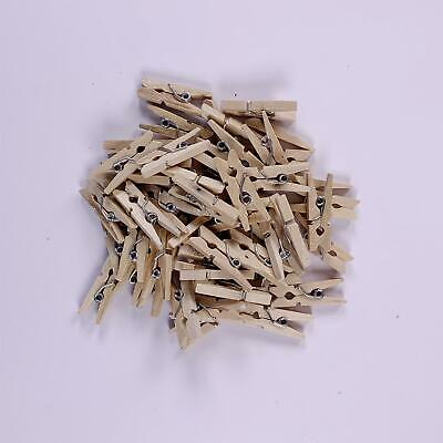 50 Dovecraft Essentials Mini Natural Wooden Pegs Card Making Embellishments