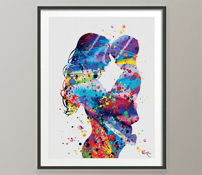 Mother and Son Watercolor Print Mother and Daughter Mother and Baby Mother-392