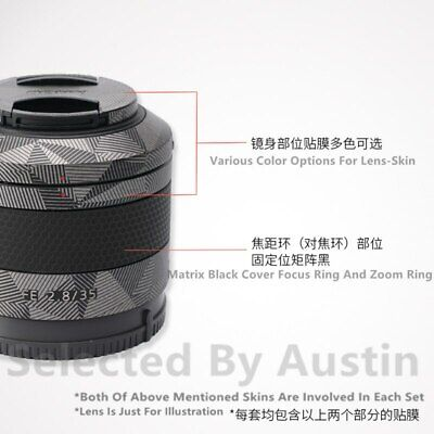 E 10-18mm F4 OSS RAYANSPHOTO Lens Guard Skins Wrap Cover Decal Protector Wear Case for Sony Zoom Lenses Series Pattern Litchi Black