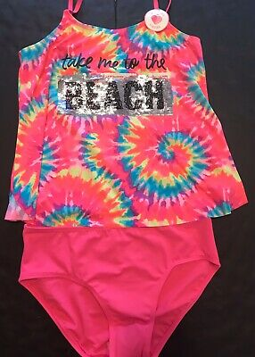 GIRLS JUSTICE TIE DYE ONE PIECE BLEACH WHITE SWIM SUIT SIZES 10 OR SIZE 12 NWT