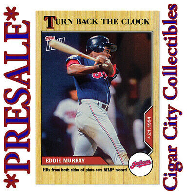 2020 MLB TOPPS NOW Turn Back the Clock #22 Eddie Murray SP Indians PR: 344