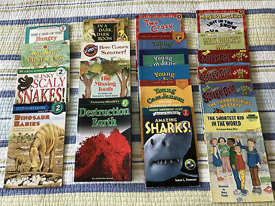 Lot Of 20 Books Level 2 Readers Science, Mystery, High Interest Very Good Cond