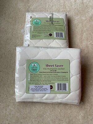 American Baby Company Waterproof Quilted Sheet Saver Changing Pad ORGANIC Lot 2
