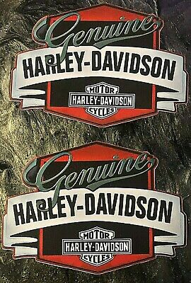 """2 Pack Old Style Harley Davidson Motorcycles Logo Decal 5"""" X 3 1/2"""""""