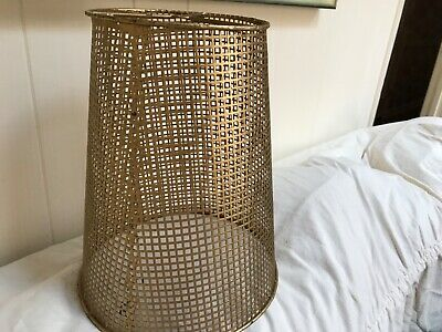 Mid century modern metal tole lampshade made in Italy small screen  squares form