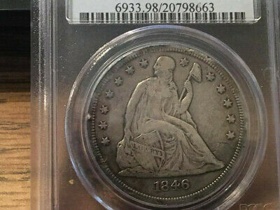 US 1846-O SILVER SEATED LIBERTY DOLLAR $1  in PCGS - CONDITION! - NICE COIN!!.