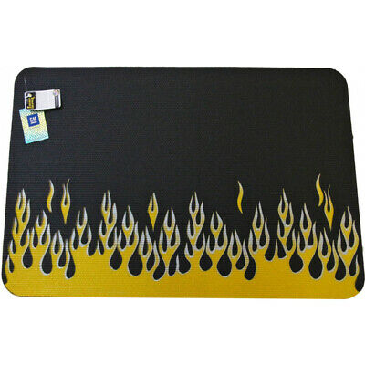 Fender Cover, Gripper, Flames, Yellow/Siver 55-291613-1