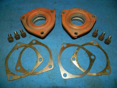 1948 Farmall Cub Differential Shaft Inner Bearing Retainers with Shims and Bolts