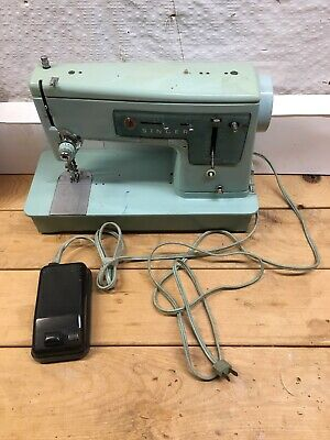 Vintage 1960s Singer Model 337 Sewing Machine Turquoise Blue W/Pedal