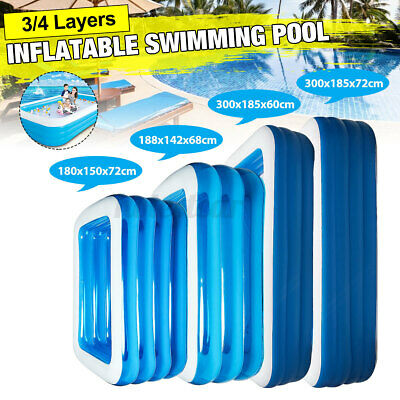 Large Family Inflatable Swimming Pool Garden Outdoor Summer Kids Paddling Pools