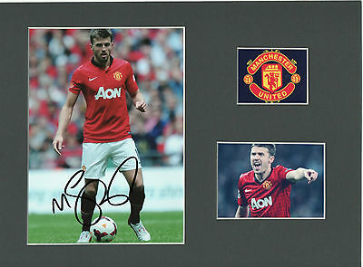 MICHAEL CARRICK Signed 11x8 Photo display MANCHESTER UTD & ENGLAND Legend COA