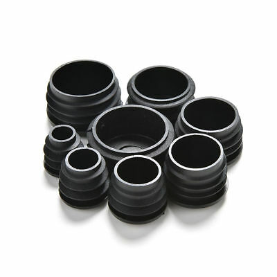 Round Plastic Black / White Blanking End Cap Caps Tube Pipe Inserts Plug Bung TP