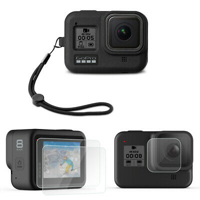 NEW Silicone Case Protective Cover with Screen Protector for GoPro Hero 8 Black