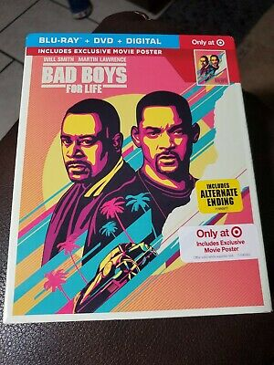Bad Boys For Life (Blu-ray/DVD/Digital) Brand New Target Exclusive Free Shipping