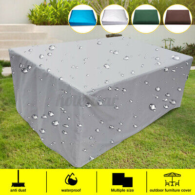 Waterproof PVC Garden Patio Furniture Cover For Rattan Table Square Cube Outdoor