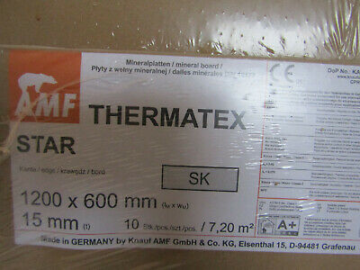 Suspended ceiling tiles pack of 10 Thermatex 1200x600x15