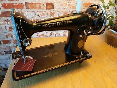 Singer 201K Handcrank ED724136 Sews Leather-Serviced-Video