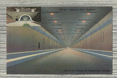 Allegheny Tunnel Pennsylvania Turnpike-Blue Mountain Rays Hill Tunnels Postcard