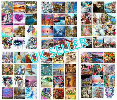 DIY Oil Acrylic Painting Kit Paint By Numbers Adult Children Beginners No Frame