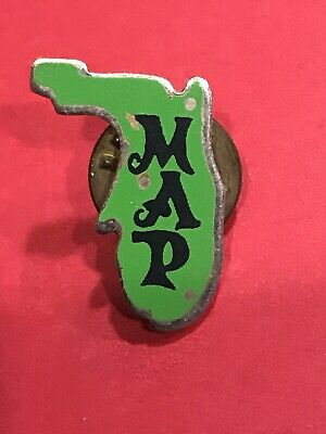 FROM The EIGHTIES ‼️PUBLIX Florida MAP Pin Very RARE My Attitude Positive