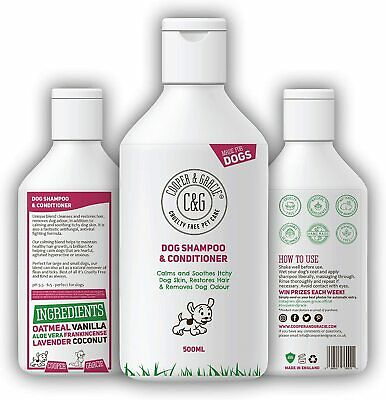 Dog Shampoo & Conditioner For Dirty Smelly Dogs Organic Natural Sensitive