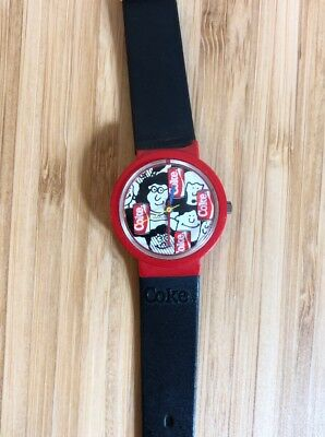 Swiss Swatch Wrist Watch Coke Collectable Rare Coca-Cola Promotional