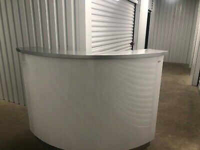 Curved Receptionist Desk with Glow lighting