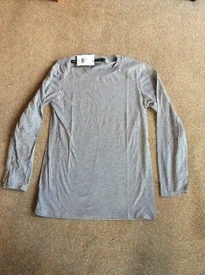 NEW LADIES THERMOGEN THERMAL LONG SLEEVE TOP GREY MARL BY NEXT SIZES SMALL MEDIU