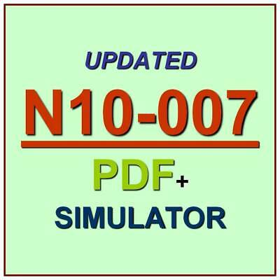 CompTIA Network+ Certification Net Plus Test N10-007 Exam QA PDF+Simulator